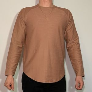Large Scooped Vitaly Pink Long Sleeve Shirt